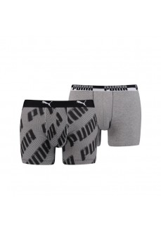 Puma Men's Boxer Basic 2P Aop Black/White 691002001-200