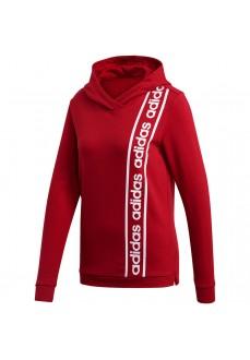 Sudadera Adidas Mujer C90 OH Roja Logo Blanco EH6463