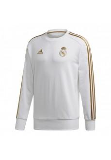 Sudadera Adidas Hombre Real Madrid 2019/2020 Blanco/Oro DY4896