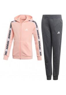 Chándal Adidas Niña Hooded Rosa/Gris ED4636