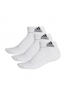 Calcetines Adidas cortos Cushioned Blanco logo Negro DZ9365