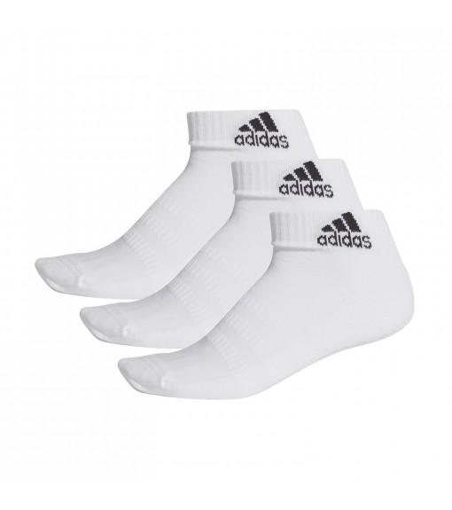 Calcetines Adidas cortos Cushioned Blanco logo Negro DZ9365 | scorer.es
