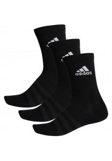 Calcetines Adidas clásicos Cushioned Negro logo Blanco DZ9357