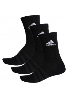 Adidas Classic Socks Cushioned Black logo White DZ9357