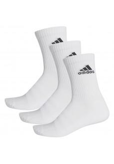 Calcetines Adidas clásicos Cushioned Blanco Logo Negro DZ9356