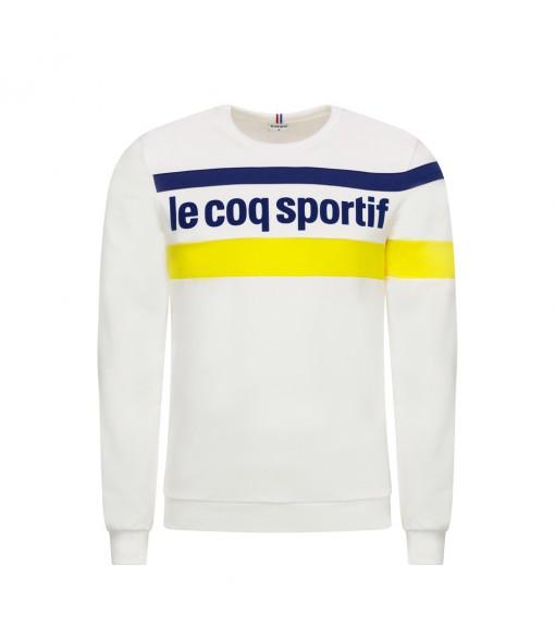 Le Coq Sportif Men's Sweatshirt Essentiels Crew White Logo Blue Line Yellow 1920479   Sweatshirt/Jacket   scorer.es