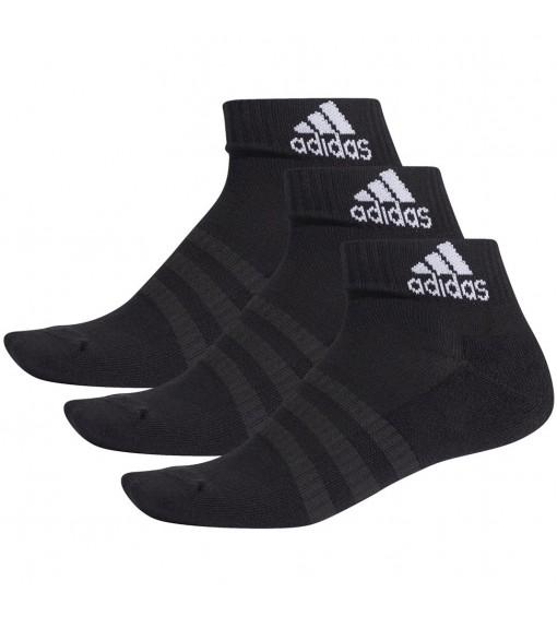 Calcetines Adidas cortos Cushioned Negro con logo Blanco DZ9379 | scorer.es