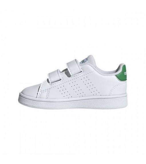 Adidas Advantage Kid´s Shoes White/Green EF0301   No laces   scorer.es