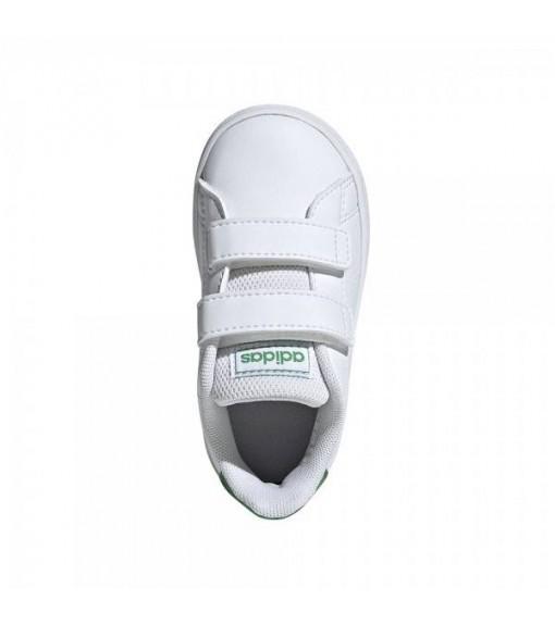 Adidas Advantage Trainers White/Green EF0301 | No laces | scorer.es