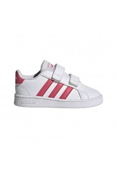 Adidas Trainers Grand Court White/Pink EF0115