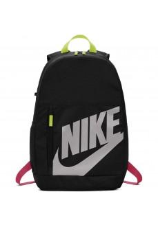 Mochila Nike Elemental Negro Con Logo Blanco y Tiras Rosas y Verdes BA6030-010