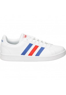 Adidas Men's Trainers Grand Court Base White Blue and Red Lines EE7901