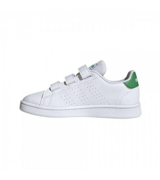 Adidas Kids' Trainers Advantage White/Green EF0223 | No laces | scorer.es