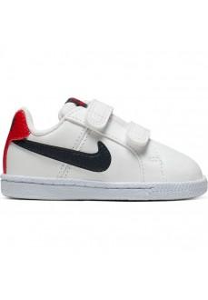 Nike Kids' Trainers Court Royale (TDV) White/Navy Blue/Red 833537-107 | No laces | scorer.es