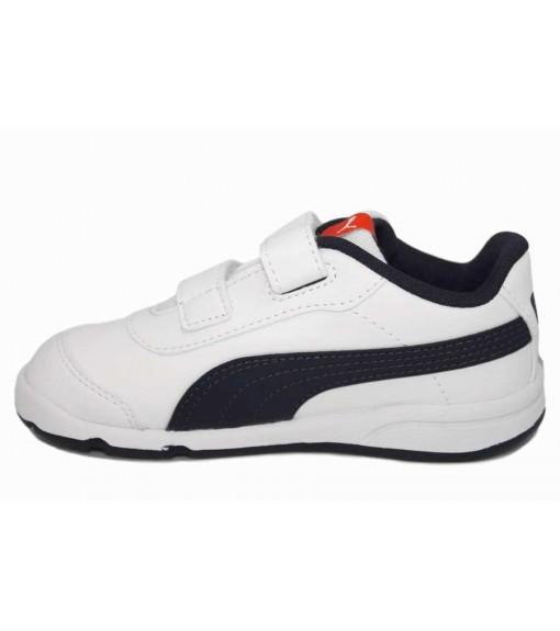 Puma Kids' Trainers Stepfleex 2 SL VE White/Navy Blue 192522-07 | No laces | scorer.es