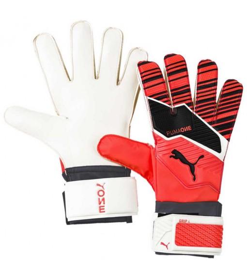 Puma Gloves One Grip 4 Red/Black/White 041631-01 | Goalkeeper Gloves | scorer.es