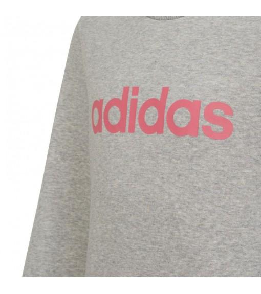 desmayarse Senador montón  Sudadera Adidas Niña Linear Gris Logo Rosa EH6156