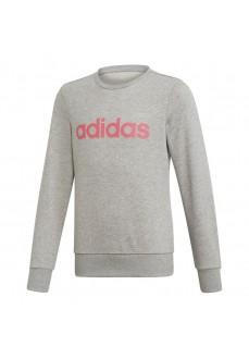 Sudadera Adidas Niña Linear Gris Logo Rosa EH6156