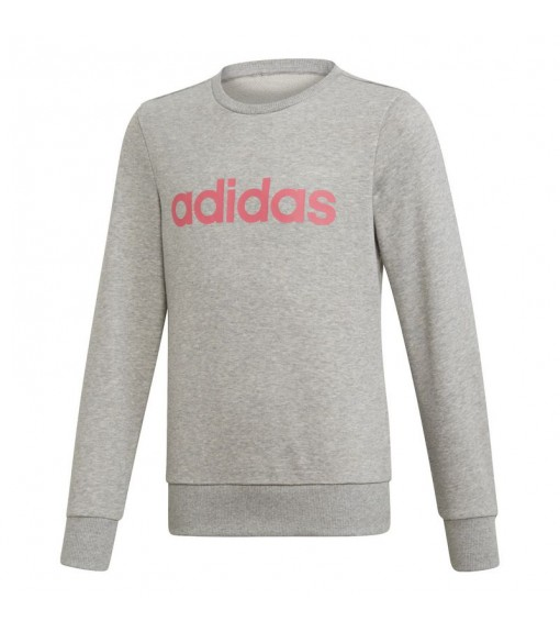Sudadera Adidas Niña Linear Gris Logo Rosa EH6156   scorer.es