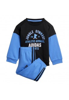 Adidas Tracksuit Graphic Terry Black/Blue ED1169