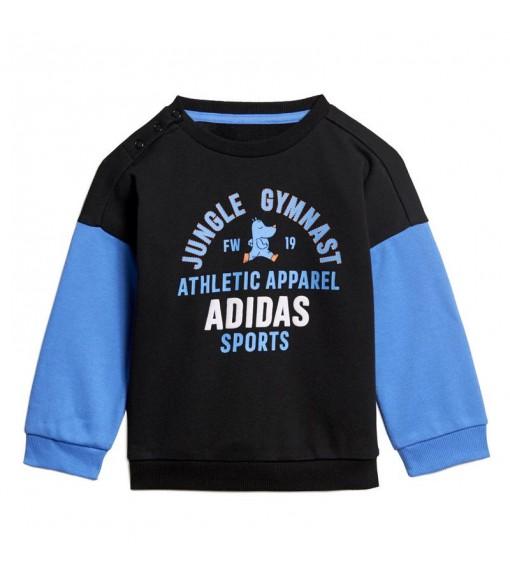 Adidas Tracksuit Graphic Terry Black/Blue ED1169   Tracksuits   scorer.es