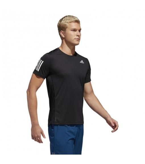 Adidas Men's T-Shirt Own the Run Black White Lines DX1312 | Running T-Shirts | scorer.es