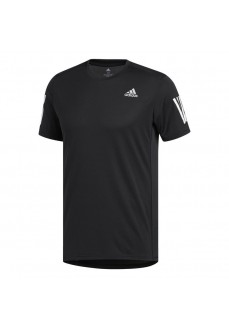 Adidas Men's T-Shirt Own the Run Black White Lines DX1312