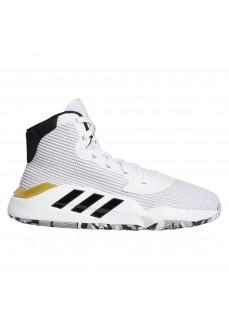 Zapatillas Hombre Adidas Pro Bounce Blanco/Oro bandas Negras EE3896