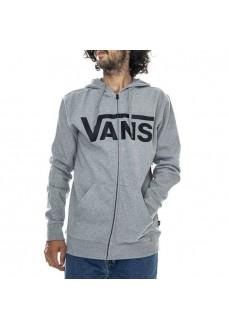 Sudadera Hombre Vans Classic Zip Gris logo negro VN0A456CADY1 | scorer.es