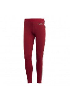 Mallas Mujer Adidas Essentials 3 bandas Roja Lineas Blancas EI0768