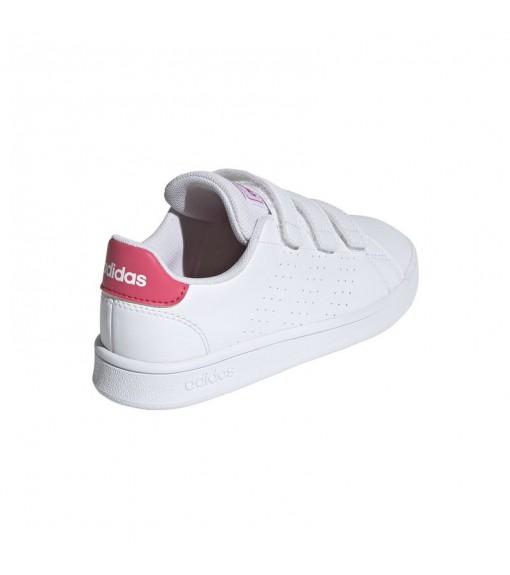 Adidas Kids' Trainers Advantage C White/Pink EF0221 | No laces | scorer.es