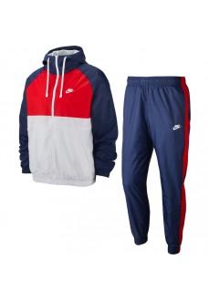 Chándal Hombre Nike Sportswear Woven Hooded Marino/Blanco/Rojo BV3025-410 | scorer.es