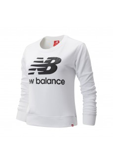 New Balance Women's Sweatshirt Essentials Crew White WT91585WK