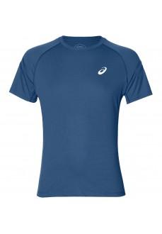 Asics Men's T-Shirt Silver IconTop Blue 2011A467-401