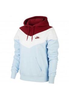 Sudadera Mujer Nike Sportswear Heritage Azul/Blanco/Granate | scorer.es