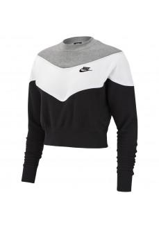 Sudadera Mujer Nike Sportswear Heritage Negro/Blanco/Gris BV4954-010 | scorer.es