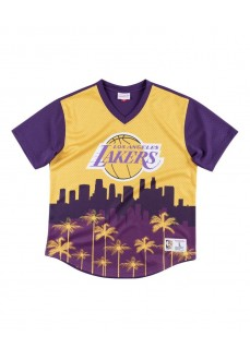 Camiseta Hombre Mitchell & Ness Los Angeles Lakers Amarillo/Morado MSPOMG18044-LALPTPR