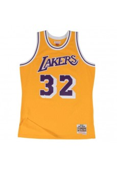 Maillot Mitchell & Ness Los Angeles Lakers Magic Johnson Jaune/Violet Homme SMJYGS18175-LALLTGD84EJH