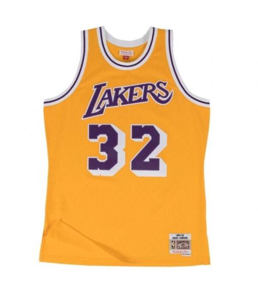 Camiseta Mitchell & Ness Los Angeles Lakers Magic Johnson Amarillo/Morado SMJYGS18175-LALLTGD84EJH | scorer.es