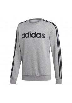 Sudadera Hombre Adidas Essentials 3-Stripes Gris Bandas Negras EI4902 | scorer.es