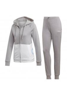 Chandal Mujer Adidas Linear Ft Hood Gris/Blanco EI0758 | scorer.es