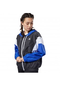 Reebok Women's Windbreaker Training Essentials Black/White/Blue FI2010 | Sweatshirt/Jacket | scorer.es