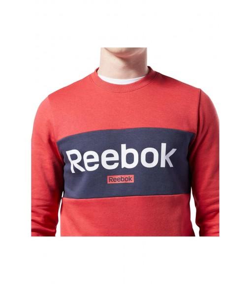Sudadera Hombre Reebok Jersey Training Essentials Linear Logo Rojo/Marino EJ9864 | scorer.es