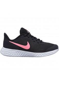 Zapatillas Niño/a Nike Revolution 5 (GS) Negra/Rosa BQ5671-002