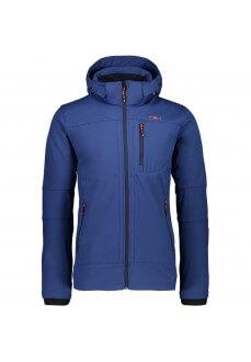 Campagnolo Men's Sofshell Zip Hood Blue 3A01787 M934