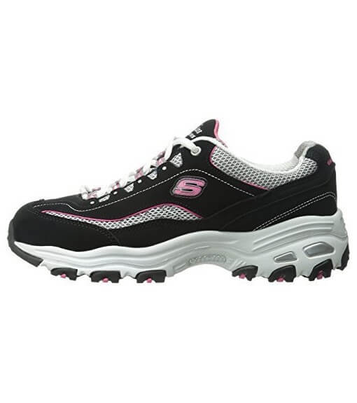 Zapatillas Mujer Skechers D´Lites-Life Saver Negro/Rosa   scorer.es