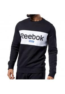 Sudadera Hombre Reebok Jersey Training Essentials Linear Logo Negro/Blanco EJ9863 | scorer.es