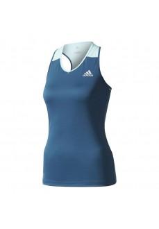 Camiseta de tirantes Adidas Azul para mujer