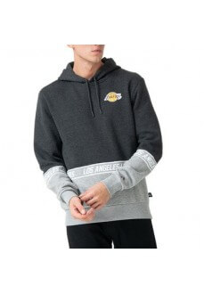 Sudadera Hombre New Era NBA Los Angeles Lakers Gris 12123918 | scorer.es
