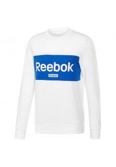 Sudadera Hombre Reebok Jersey Training Essentials Linear Logo Blanco/Azul FI1922 | scorer.es